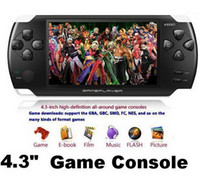 Wholesale GB quot LCD Game Console Media Player AV Out FM TF MP4 MP5 with camera