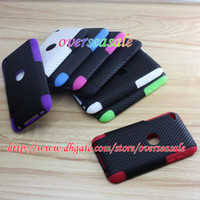 Wholesale Hard plastic soft silicone defender back case cover cases For itouch ipod touch th