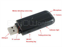 Wholesale Mini U8 DVR USB Disk Memory HD Spy Camera Motion Detector Video Recorder K0168A