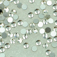 Wholesale Non Hotfix Rhinestone Crystal Clear Flatback Crystal SS12 SS16 SS20 SS30 SS34