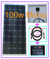 Wholesale 100w V DC Solar Panel Charge Battery W A Regulator amp Controller Meters amp FT Solar Cable
