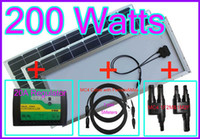 Wholesale 200w V DC Solar Panel A Regulator Meter amp FT Cable MC4 Connectors1F2M amp M2F Water Proof