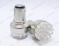 NO aluminum turn signals - BA15D LED White lights Tail Turn Signal light bulbs stoplight