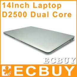 Wholesale 14 inch Laptops Notebook Intel Dual Core HDMI laptops D2500 Win Seven GB GB G G Cheap Mini laptop Computer PC