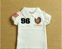 baby badge - 2 Y summer baby clothes Badge embroidery lapel boys T shirts Short sleeve kids t shirt topwears