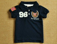2T-3T Boy 100% Cotton 2012 Children's Clothing Boys Kids T shirts Large child Embroidery Lapel Short sleeve Tshirts RT42