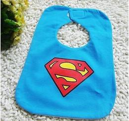 Wholesale Dress shape of three layer waterproof children s bibs baby bib gentleman Navy ladies Superman