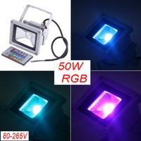 new arrival 50W high power multi led floodlight 4500LM RGB 8...