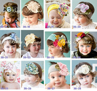Wholesale new baby headbands infant flower headband children hair accessories girl crochet hair band