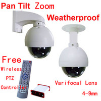 "NTSC 600TVL Outdoor 1 3 Sony CCD 600TVL 4"" Outdoor 3x Zoom Waterproof PTZ Camera free wireless PTZ controller"