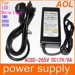 Wholesale Power Supply for LED Strip Light SMD V AC DC V A W Power Adapter Router HUB