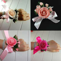 Wholesale 2012 New simulation flowers Wedding Bridal Bouquets bride Wrist flowers bride s headdress color
