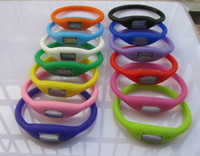 Digital Digital Rubber - Silicon Sport Ion Silicone Candy Jelly Watch,Digital Watches,Anion Wrist Watch 500pcs lot