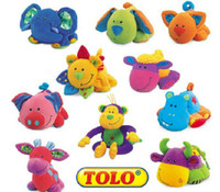Wholesale TOLO toy baby toys with single device knead will BB BIBI ring many style baby Plush toys