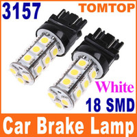Wholesale White leds SMD LED Car Brake Stop Lamp Light Car Wedge tail rear lights bulbs K469