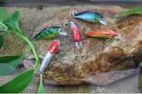 Wholesale Cheap Fishing Lure Reel Tackle MINNOW Crank MM G Hooks Plastic Fishing Lures Mix order