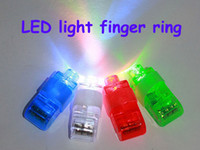 Wholesale Color LED Bright Laser Finger Ring Lights Beams Rave Party Glow kids gift support drop ship