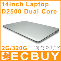 14-14.9'' Windows 7 Wireless 14 inch Dual Core laptop tablet pc 2G DDR3 320G Win7 win 7 Air Book D2500 Notebook Computer PC ultrabook cheap laptops
