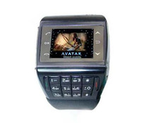 Wholesale Wrist cell phone AVATAR ET Quadband Touch Screen Watch Phone With Number Keypad FM Voice Dialling