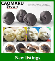 Wholesale Popular Vent Human Face Ball Anti Stress Relievers Japanese Design Cao Maru Kids Toys
