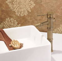 Wholesale Face basin faucet Ceramic valve core and archaize faucet bamboo unique design style faucet