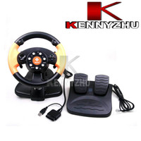 Wholesale Wired Vibration Steering Racing Wheel For PC PS3 PS2 Game Gaming Steering Wheel