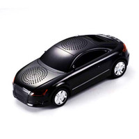Wholesale A8 Car Shape Portable loud Speaker with LCD Screen support USB Flash Micro SD card FM radio