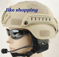 Wholesale tactical Helmet Mich Helmet with NVG Mount ARC Rail tan free ship