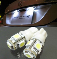 Wholesale CAR bubls T10 W5W SMD LED lamps bulb WHITE LIGHT BULBS T10 SMD