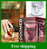 Wholesale Newest Cup Crystal Skull Head Vodka Shot Glass Pirate Glasses Beer Mug ounces
