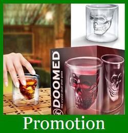 Wholesale Cheap Shot Glass Doomed Crystal Skull Head Vodka Pirate Glasses Beer Mug oz Cup