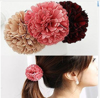 beautiful clip art - Promotion pure color cloth art flowers beautiful hair circle clip hairband LZH3