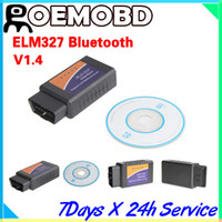 Wholesale ELM327 Bluetooth software OBD2 EOBD CAN BUS Scanner Elm Bluetooth V1 Auto Diagnostic Tool