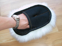 Wholesale 1pcs Genuine Sheepskin Wash Mitt Professionally Detail Mitt Car Detail Auto Wash Mitt