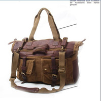 Wholesale Mens Convas Backpack Casual Brown Motocycle bag Messenger shoulder computer travel outdoor handbag