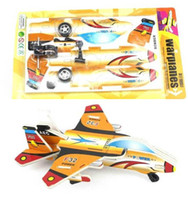 Wholesale Mini DIY D Puzzles Fighter Plane Toy Pull Back Plastic Toys Best Educational Gifts For Kid
