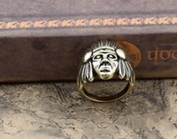 Wholesale Acient Indian head finger ring vintage jewelry US6 LY2