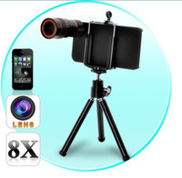 Wholesale 8X Zoom Optical Telescope Lens with Tripod For iPhone