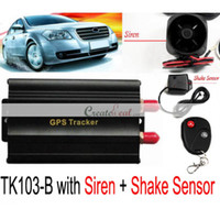 Wholesale New GSM GPRS GPS Remote control Vehicle Tracker TK103B with Siren and Shake