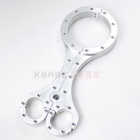 Wholesale BDSM Luxury Anodized Aluminum Cangue Neck amp Handcuff Restraint Bondage Yoke Wrist Pillory with Lock