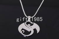 Wholesale Large Strange music charms Stainless Steel Pendant amp Necklace silver Men jewelry