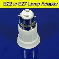 Wholesale B22 to E27 Lamp Adapter New LED Halogen CFL Light Bulb