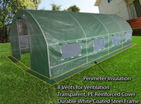 Wholesale Large Polytunnel PE Reinforced Greenhouse to US