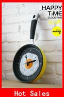 novelty clocks - Novelty Wall Clocks Creative Pan Clock Watch Christmas Gift Toy Frying an egg For