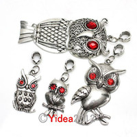 Wholesale 20pcs Mixed Items Alloy Owl Pendant Black leather True cowhide Necklace cm Fit Gift DIY
