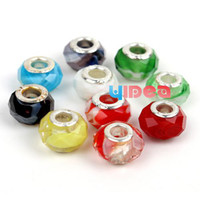 Wholesale 100pcs Mixed Items Colorful Assorted Facted Crystal Beads Fit Charms Bracelet DIY