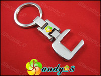 Wholesale 3D Popular C Metal Car Key Chain Ring Chains Rings Keychain Keychains Keyring Keyrings
