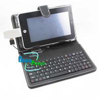 Wholesale 7 Cover Keyboard Flip Stand Black amp White Tablet PC ePad USB Keyboard Leather Case Best Seller