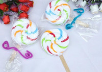 Wholesale Striped lollipop cake towel Lollipop gift towel Wedding return gift cotton g