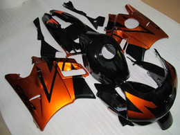 Free 7 Gifts Fairing kit for Honda CBR600 F2 1991 1992 1993 1994 CBR600F2 91 92 93 94 body kits fairings Orange-gold black